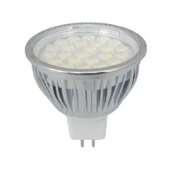 Mr16 led bulbs mr16 12v spotlights dimmable warm white cool dimmable mr16 led smd bulb 50w halogen replacement 430 lumens 24 x 5050 smd chips publicscrutiny Images